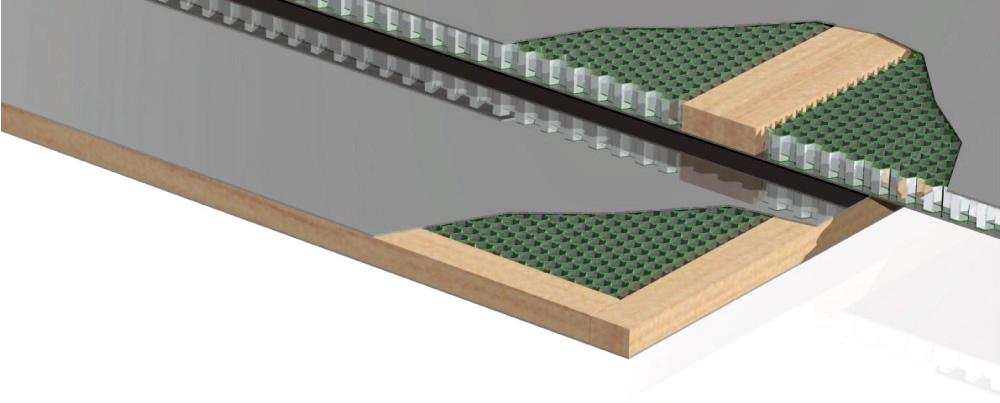 vách gỗ thang máy
