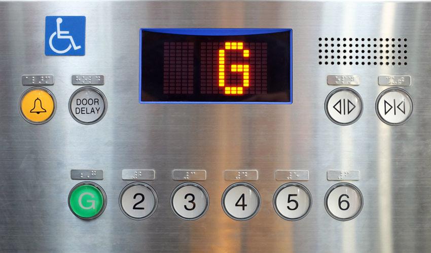bảng điều khiển thang máy cho người khuyết tật