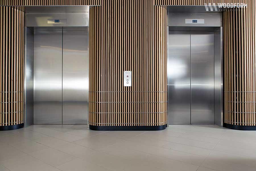 Thiết kế khung bao cửa tầng thang máy bảng rộng